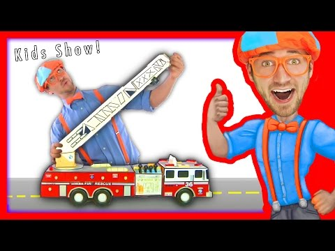 Thumbnail: Blippi Toys Fire Trucks for Children | FIRE TRUCK SONG