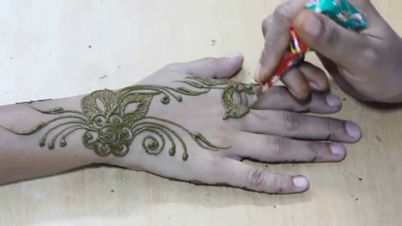 Mehndi Tattoo Back Hand : New floral mehndi designs for hands awesome henna