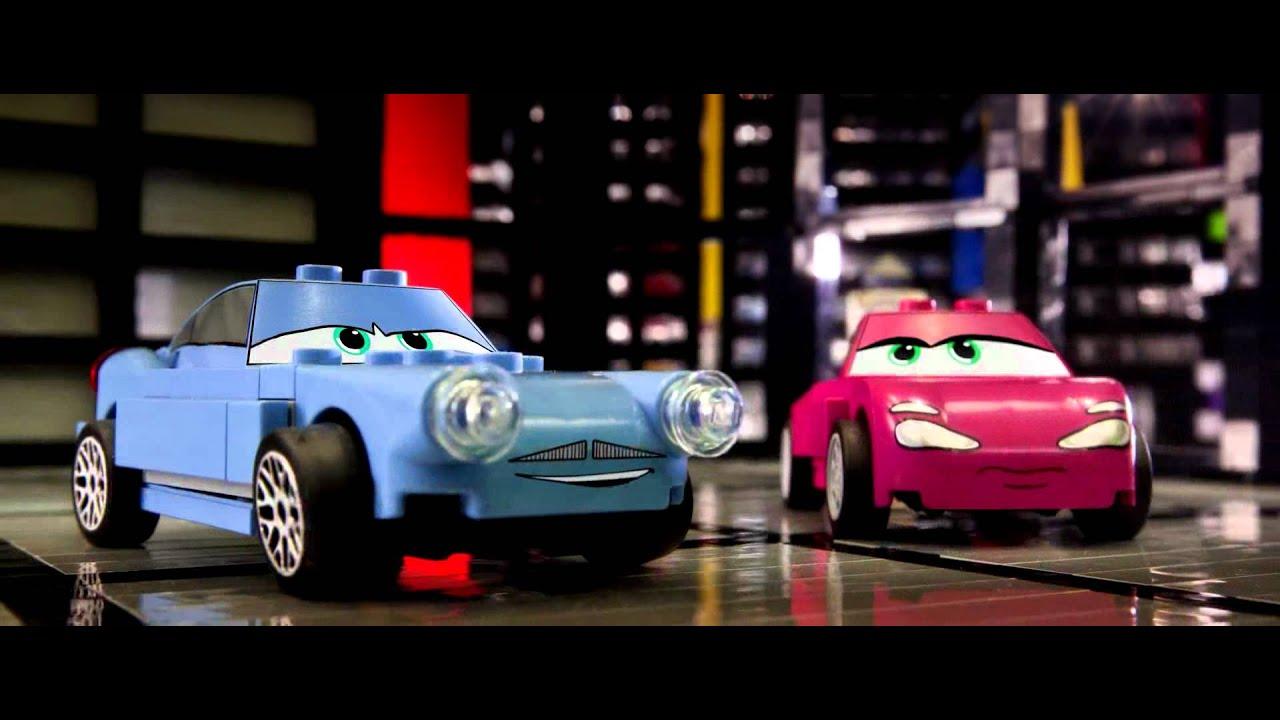 Cars 2 Movie Trailer Recreated Entirely Of Lego Brick Youtube