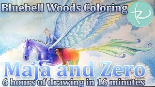 Maja and Zero the Pegasus - Coloring Bluebell Woods Coloring Book - lauracolorstoo