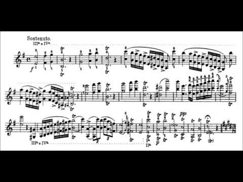Niccolò Paganini - Caprice for Solo Violin, Op. 1 No. 3 (Sheet Music)
