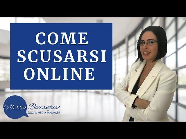 Scusarsi online istruzioni per l'uso - Il caso di Barbara Palombelli