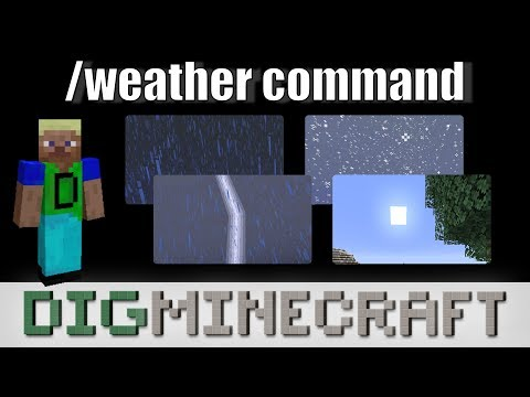 How To Use The /weather Command In Minecraft