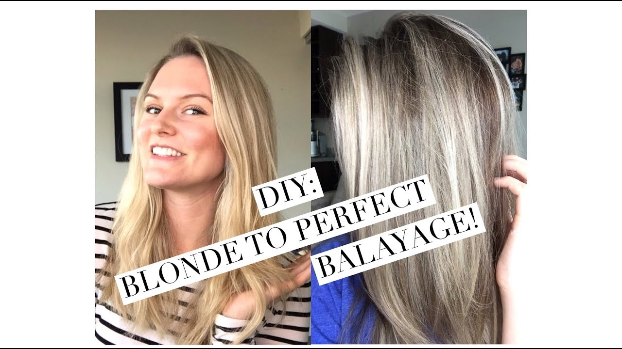 Diy Blonde To Balayage Shadow Root Sombre