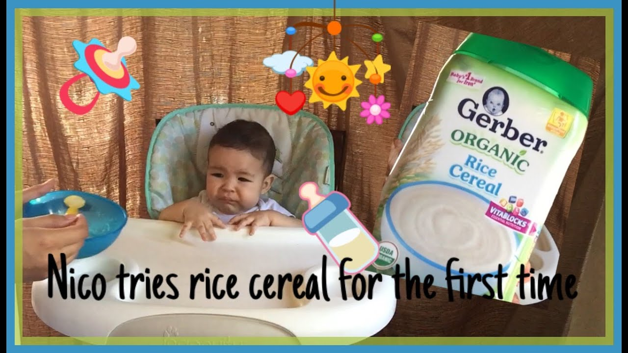How to mix rice cereal and breastmilk baby first reaction youtube how to mix rice cereal and breastmilk baby first reaction ccuart Image collections