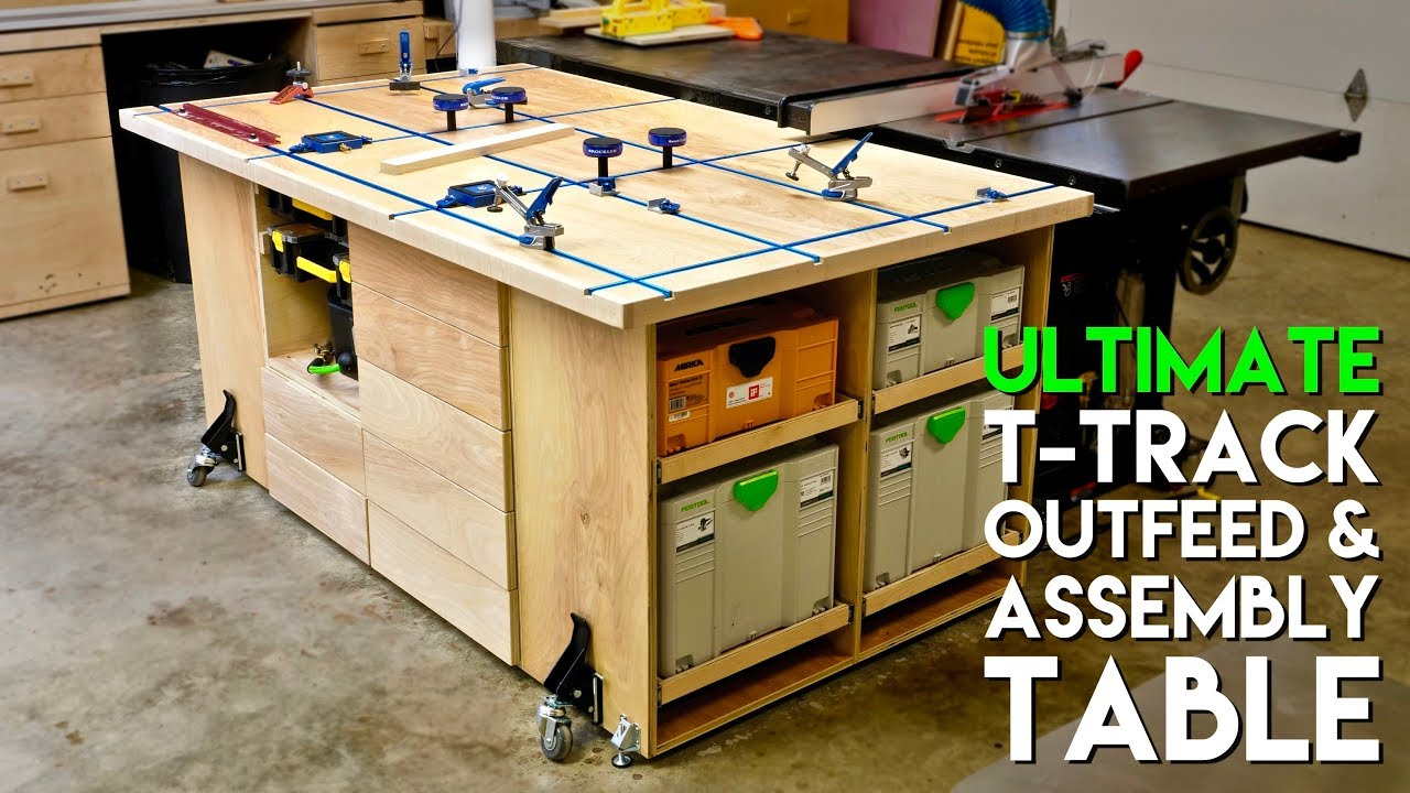 ULTIMATE T Track Assembly U0026 Outfeed Table / Workbench With Systainer Storage  | How To Build