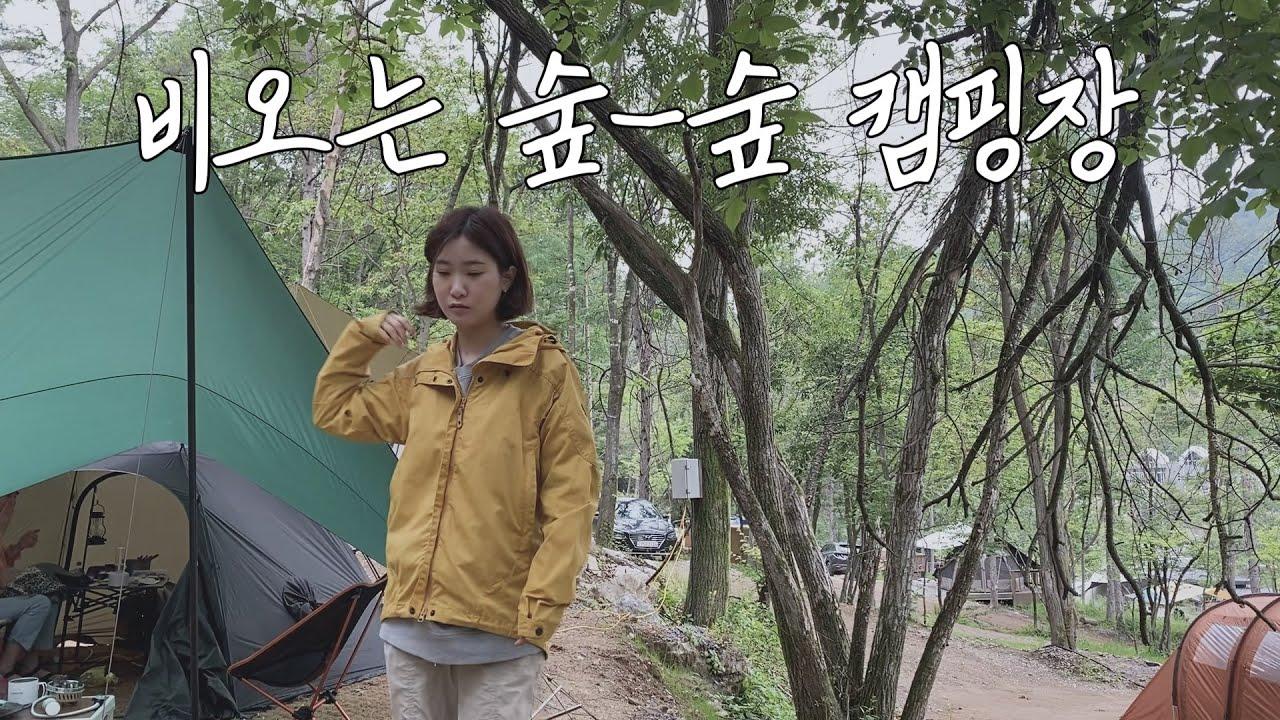 [우중캠핑] 비오는날 숲숲한 캠핑장에서 캠핑하기 ㅣ 백컨트리 오리손쉘터 야침모드 ㅣ 인스타360 one x2 ㅣ 새와참새 캠핑장