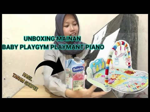 Unboxing Mainan Baby Playgym Playmat Piano Musical Uculll Beetttt