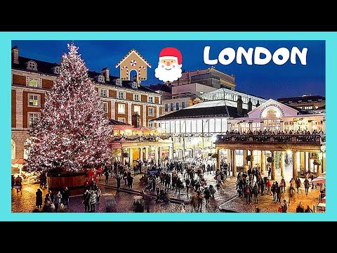 London At Christmas Time.London Wonderful Covent Garden At Christmas Time