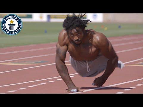 両手だけで走る世界最速の男、ザイオン・クラーク ギネス世界記録