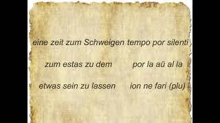 Eine Zeit für alles germana leciono en Esperanto