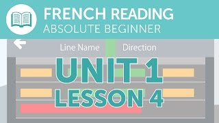 French Reading Practice - A French Notice at the Station