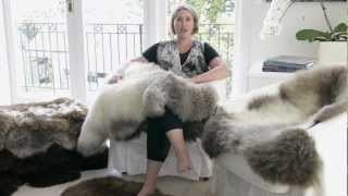 Natural Black New Zealand Sheepskin Rugs from GorgeousCreatures.com.au