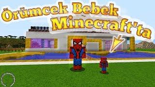Örümcek Bebek Minecraft'ta Örümcek Çocuk ile Macerası Çizgi Film Gibi Yeni Bölüm