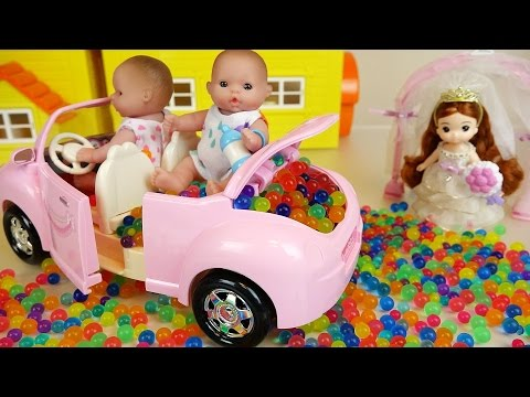 Thumbnail: Baby Doll car toy and Orbeez Surprise eggs play