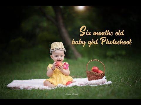 Six Months Baby Girl Photo Shoot