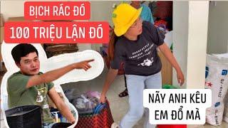 Anh Khương Dừa LỪA GẠT Trang LTP đổ bịch rác 100 TRIỆU ĐỒNG, muốn xĩu!!!
