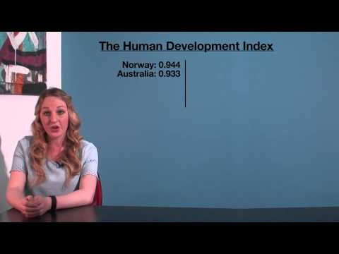 VCE HHD - The Human Development Index