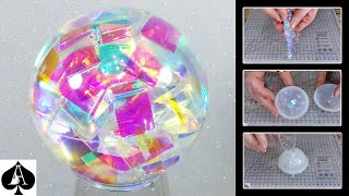 How to Make a Chroma Sphere from Epoxy Resin - much Quicker and Easier than the Chroma Cube..!