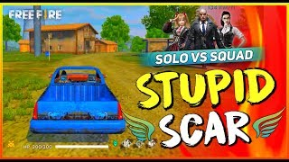 Solo vs Squad Cupid Scar Fire 2019 - Garena Free Fire- Total Gaming