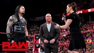 Stephanie McMahon addresses the Roman Reigns situation: Raw, May 21, 2018