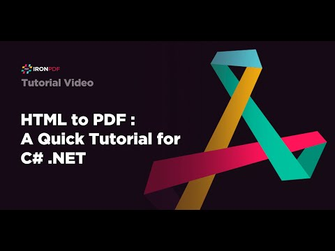 HTML to PDF : A Quick Tutorial for C# .Net thumbnail