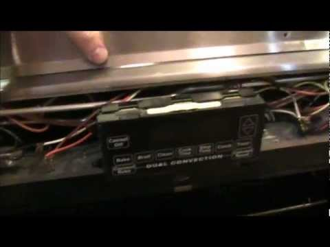 Jenn Air Oven Remove Front Panel - YouTube