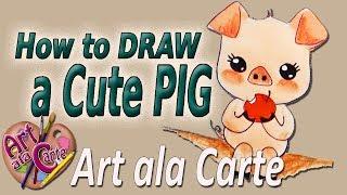 EASY How to draw a Cute Piggy