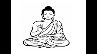 How to Draw Gautam Buddha full body pencil drawing step by step