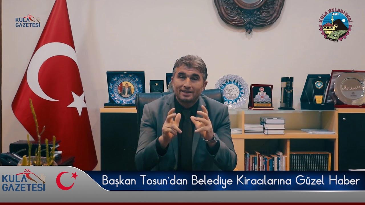 Başkan Tosun'dan Belediye Kiracılarına Güzel Haber