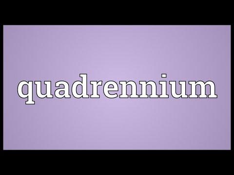 Header of quadrennium