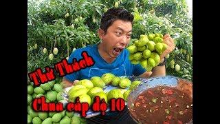 Chảy Nước Dãi Với Kinh Quốc Khi Thử Thách Ăn Xoài Non Kiểu Thái - Vlog Ẩm Thực Kinh Quốc