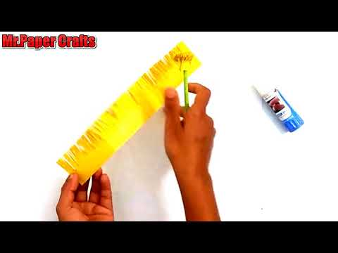 How to Make Easy  Marigold Paper Flowers step by step   Mr.Paper crafts