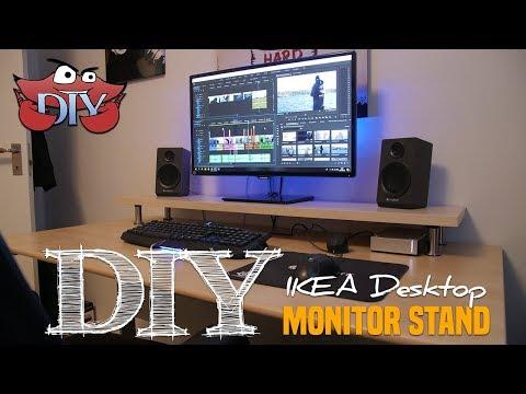 DIY IKEA Desktop Monitor Stand