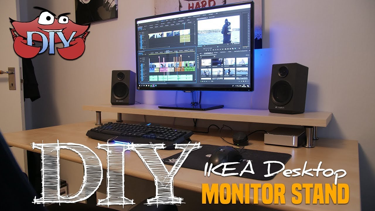 DIY IKEA Desktop Monitor Stand