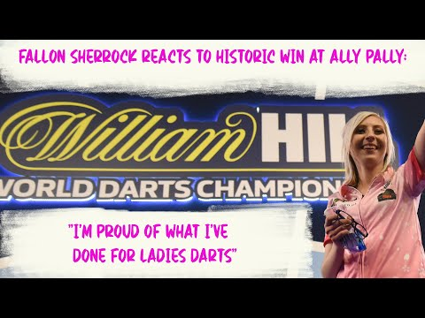 """Fallon Sherrock reacts to historic win at Ally Pally: """"I'm proud of what I've done for ladies darts"""""""