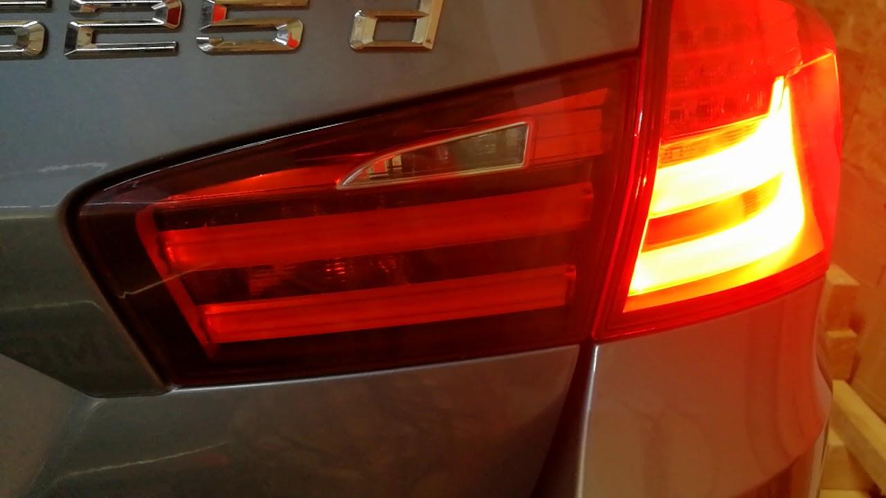 BMW 5 Series Touring F11 LED Tail Light problem - flashing - YouTube