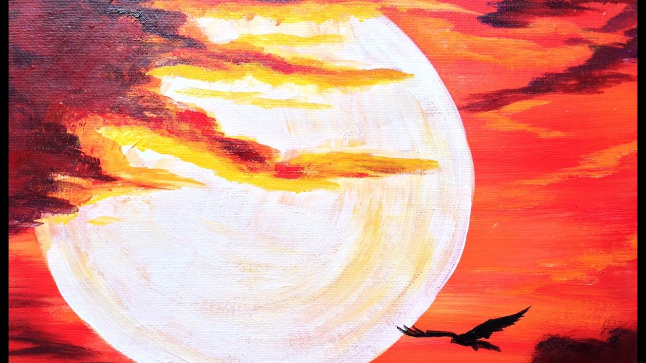 Sunset painting for beginners images for Painting for beginners
