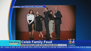 Team Curry Beats Team Paul in Celebrity Family Feud