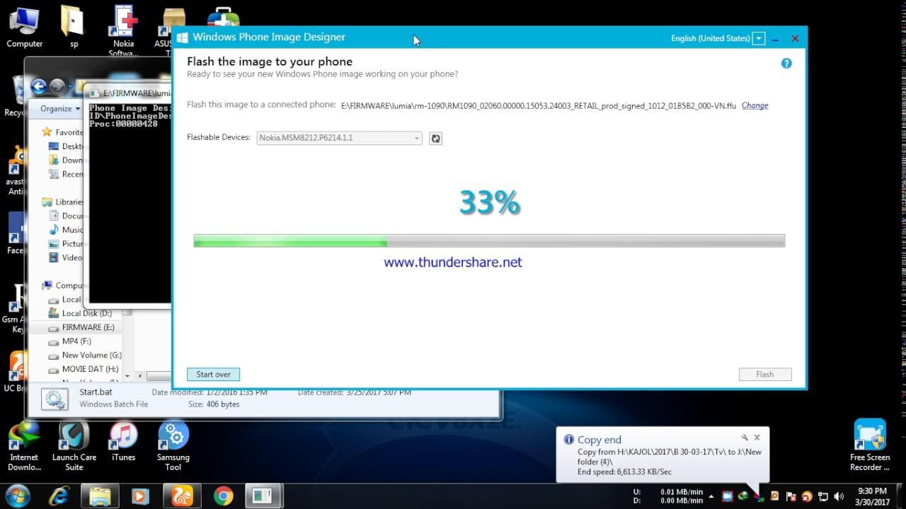 microsoft lumia 535 flash without box done rm 1090