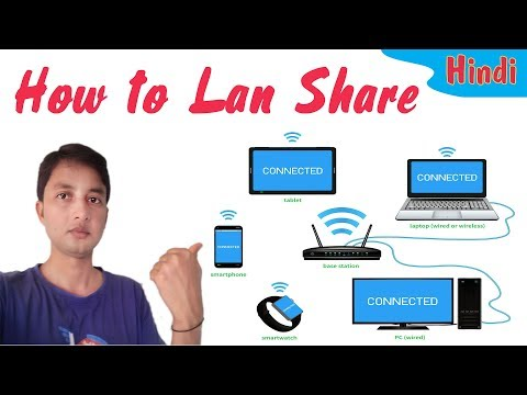 How To LAN Share Files Between Two Computers In Hindi (Share Data Folder Drive Easily)