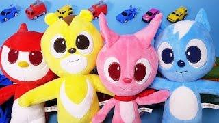 미니특공대 인형과 비타도장놀이, 뽀로로 타요 카봇 또봇 폴리 Mini Force dolls, vitamin stamps toys