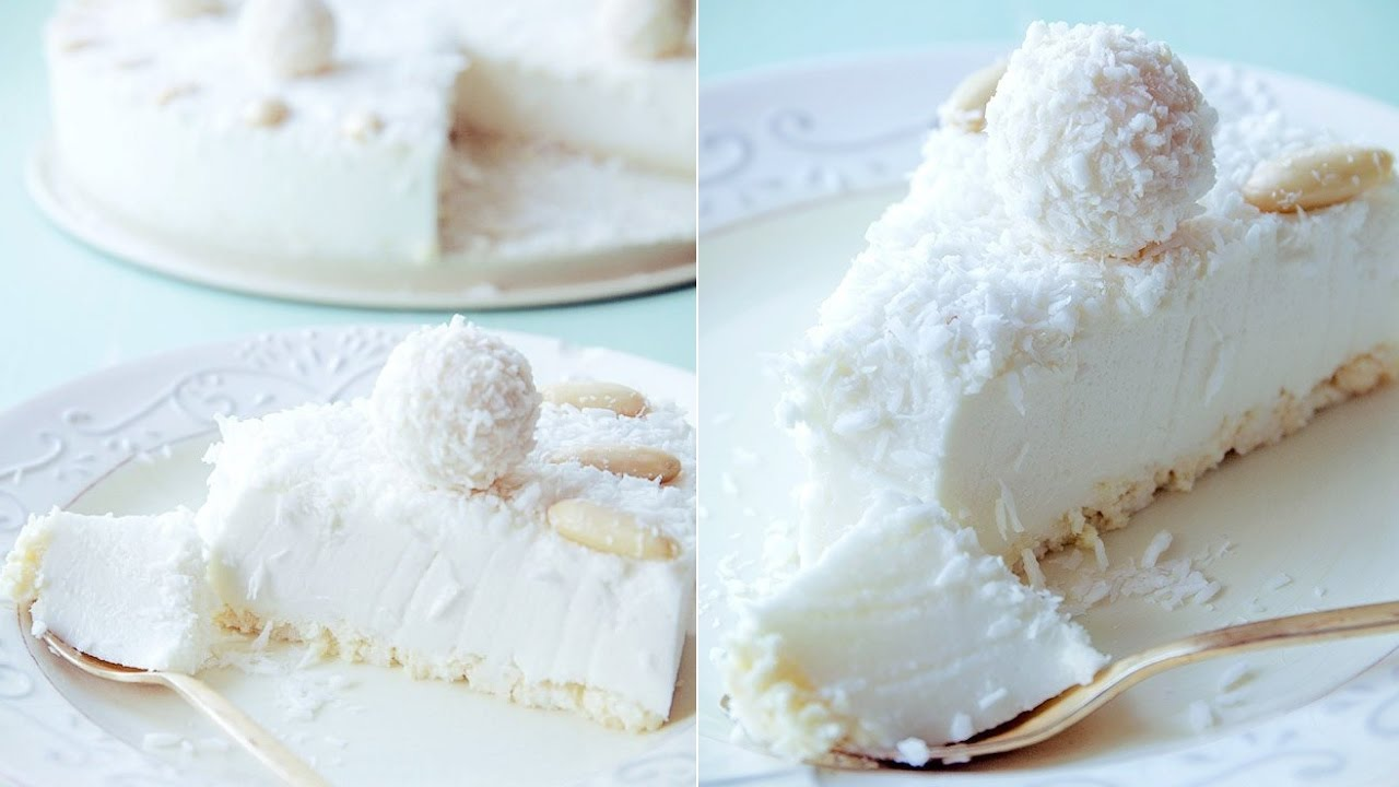 Cake cold to coconut, clever cake without cooking