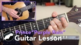 "Easy Guitar Songs - Prince ""Purple Rain"" -  Beginner Rhythm Guitar Lesson (NO ADS!)"