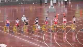 女子100m決勝_第69回 札幌市中学校体育連盟陸上競技選手権大会20160702