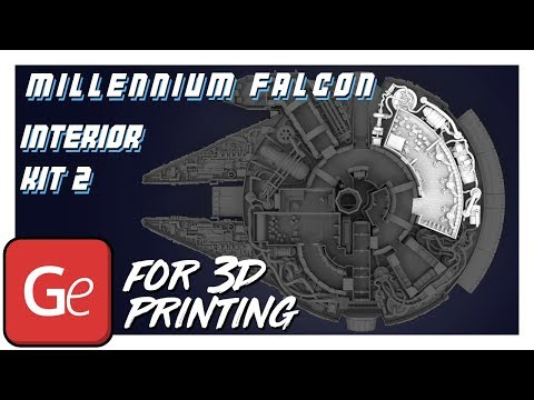 Millenium Falcon Hyperdrive and Engineering Bay Interior Parts Kit 2 | Assembly by Gambody