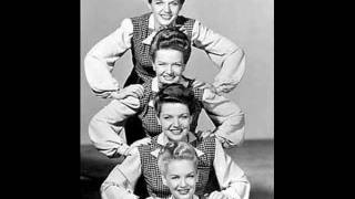 SATURDAY NIGHT (Is The Loneliest Night Of The Week) ~ The Four King Sisters  1945