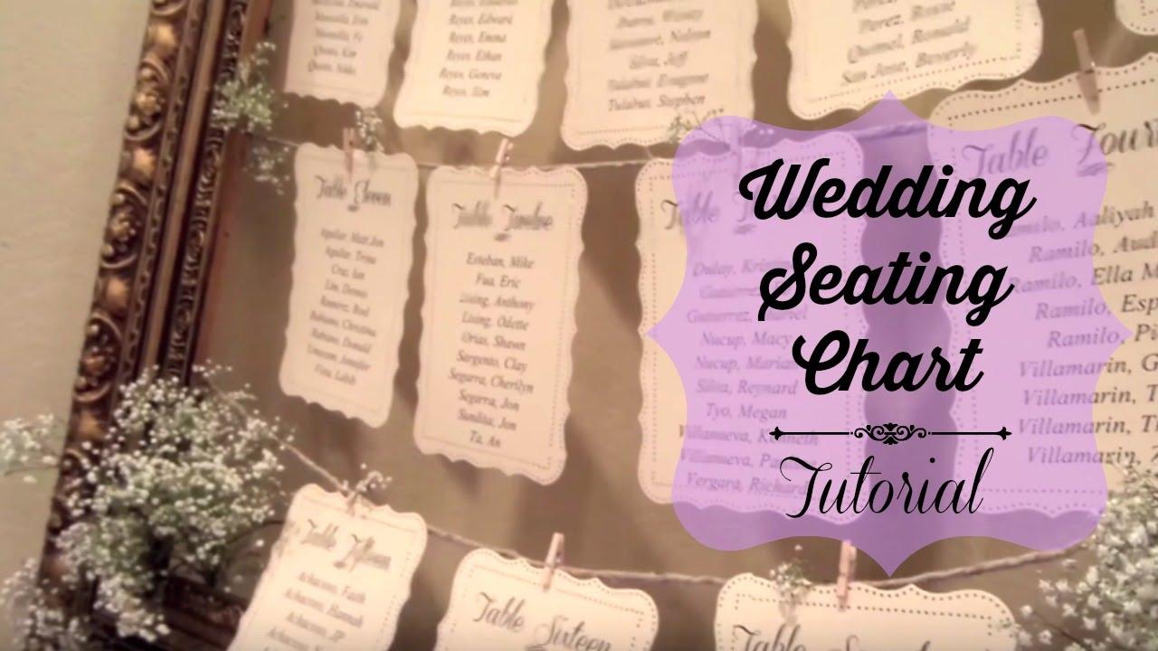 Wedding seating chart tutorial youtube wedding seating chart tutorial solutioingenieria Choice Image
