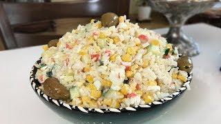 Салат с крабовыми палочками и кукурузой / Крабовый салат