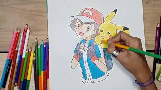 How to draw Ash & Pikachu Step by Step Drawing Tutorial Part 2 | Drawing Tutorial for Beginners